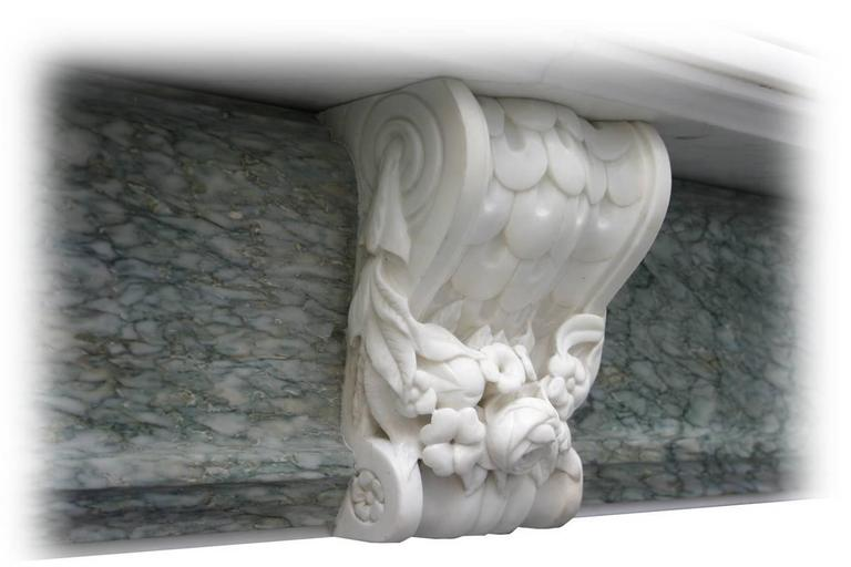 Antique 19th Century Regency Marble Fire Surround For Sale 1