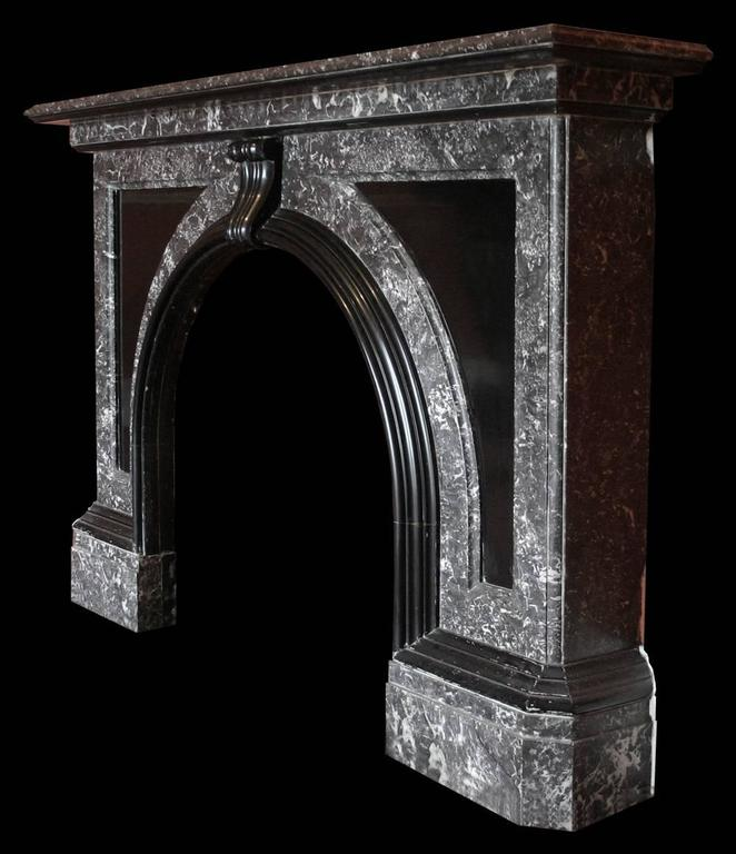 Large Late Victorian St Anne Marble Fire Surround With An