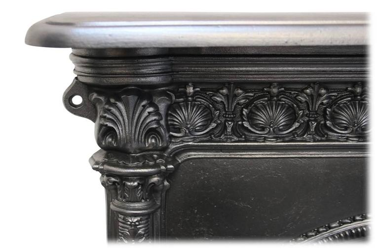 Antique Mid-Victorian Arched Cast Iron Fireplace In Excellent Condition In Manchester, GB
