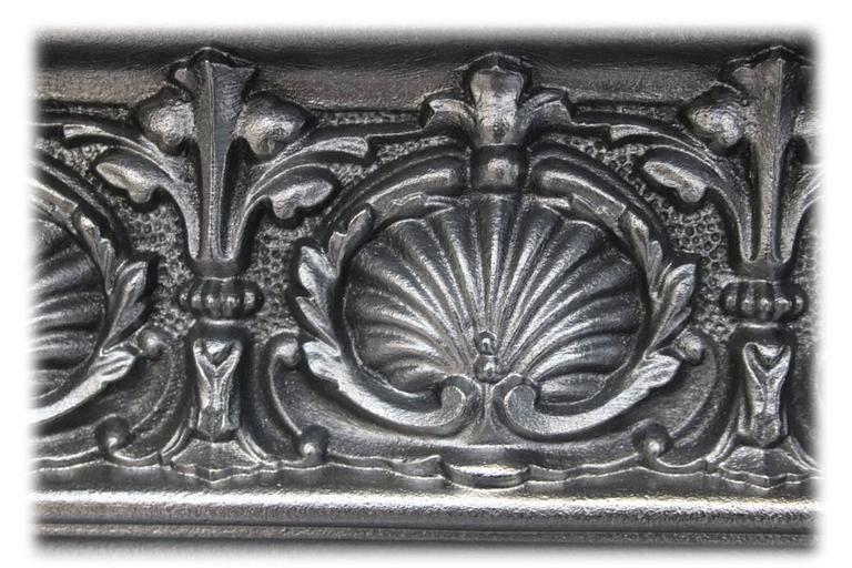 Antique Mid-Victorian Arched Cast Iron Fireplace 1