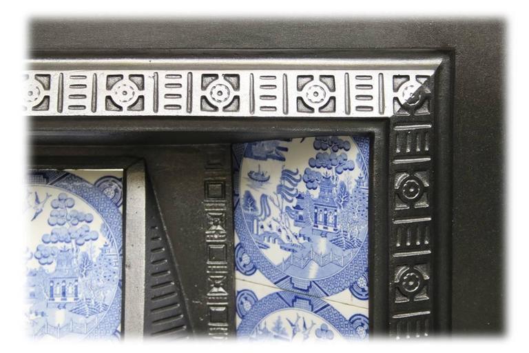 Antique victorian cast iron fireplace insert for sale at for Victorian corner fireplace