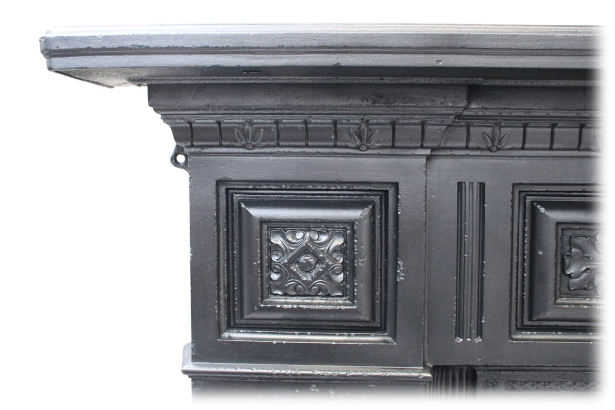 large reclaimed antique cast iron fireplace for sale at 1stdibs rh 1stdibs com Cast Iron Gas Fireplace Cast Iron Outdoor Fireplace