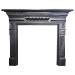 Antique Late Victorian Cast Iron Fireplace Surround