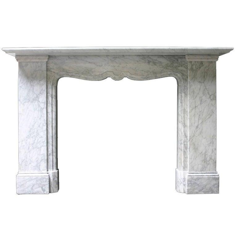 19th Century Victorian Baroque White Carrara Marble Chimneypiece