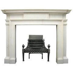 Large 18th Century Statuary Marble Fireplace Surround