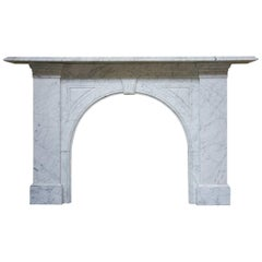 Antique Reclaimed Victorian Carrara Marble Fire Surround
