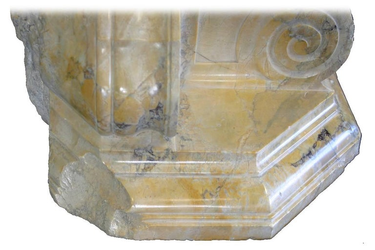 Large Pair of Antique Sienna Marble Brackets For Sale 1