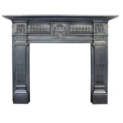 Antique Victorian Cast Iron Fireplace Surround