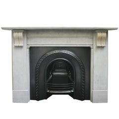 19th Century Antique Mid-Victorian Stone Fire Surround