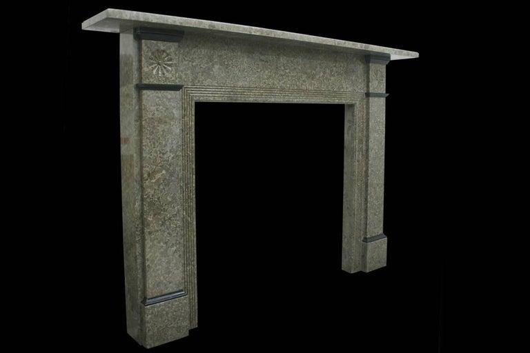 English Antique Edwardian Derbyshire Limestone Fireplace Surround For Sale