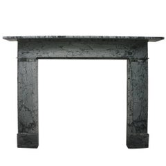 Antique Early Victorian Bardiglio Fiorito Grey Marble Fireplace Surround