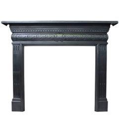 Antique Late Victorian Cast Iron Fireplace Surround
