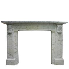 Early 19th Century Regency Carrara Marble Fireplace Surround