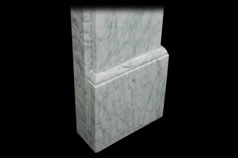 Late 19th Century Antique 19th Century Victorian Carrara Marble Fire Surround For Sale
