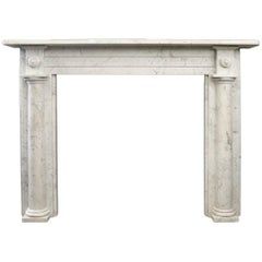 Antique Early 19th Century Georgian Carrara Marble Fireplace Mantle