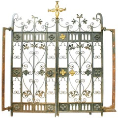 Decorative Antique 19th Century Wrought Iron Gates