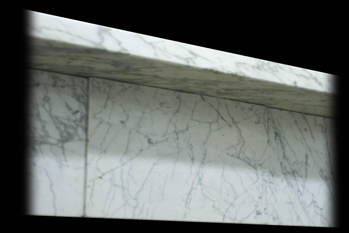 19th Century Early Victorian Carrara Marble Fireplace
