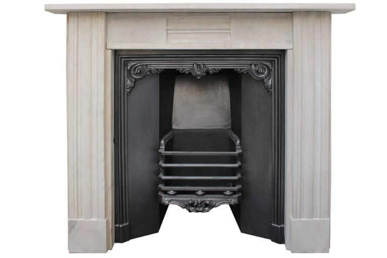 Antique Regency Grey Stone Fireplace Surround For Sale At