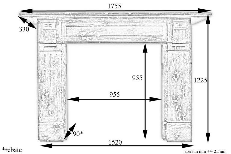 Late Victorian Fire Surround in St Anne Marble For Sale at