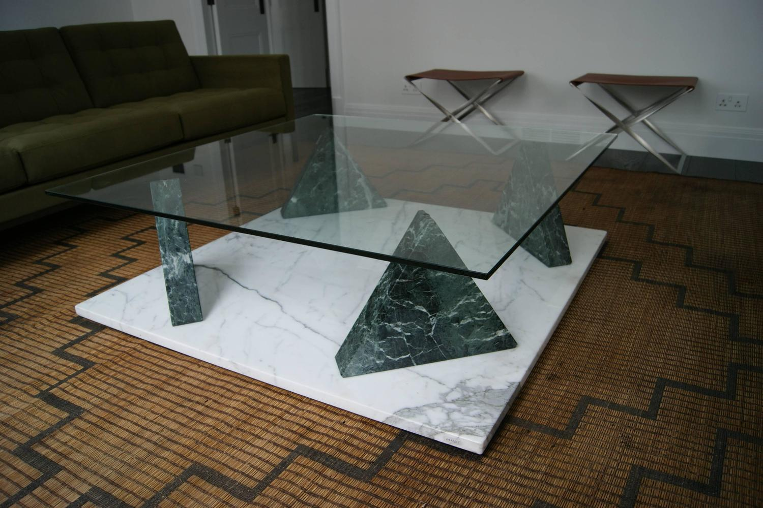 Ettore Sottsass Jaipur Coffee Table Marble Base With