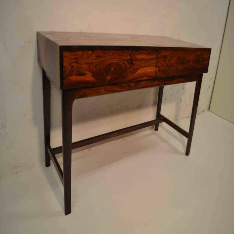 Hall Side Table danish mid-century rosewood console hall side table at 1stdibs