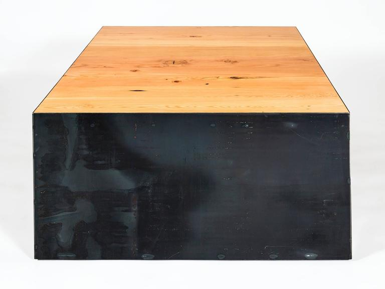 Steel This Coffee Table A Modern Coffee Table Handmade From Reclaimed Fir