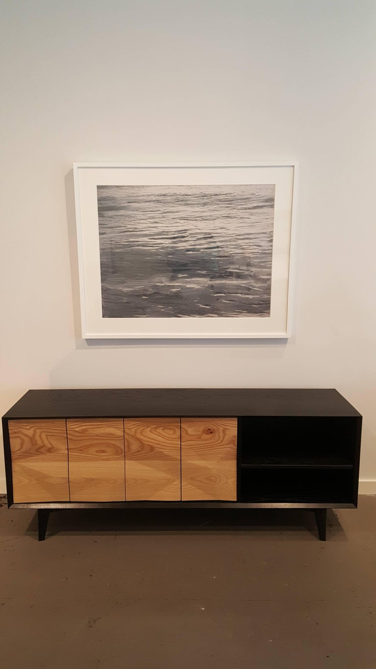 American Westchester Credenza Made of Ebonized Ash and Custom Ash Doors For Sale