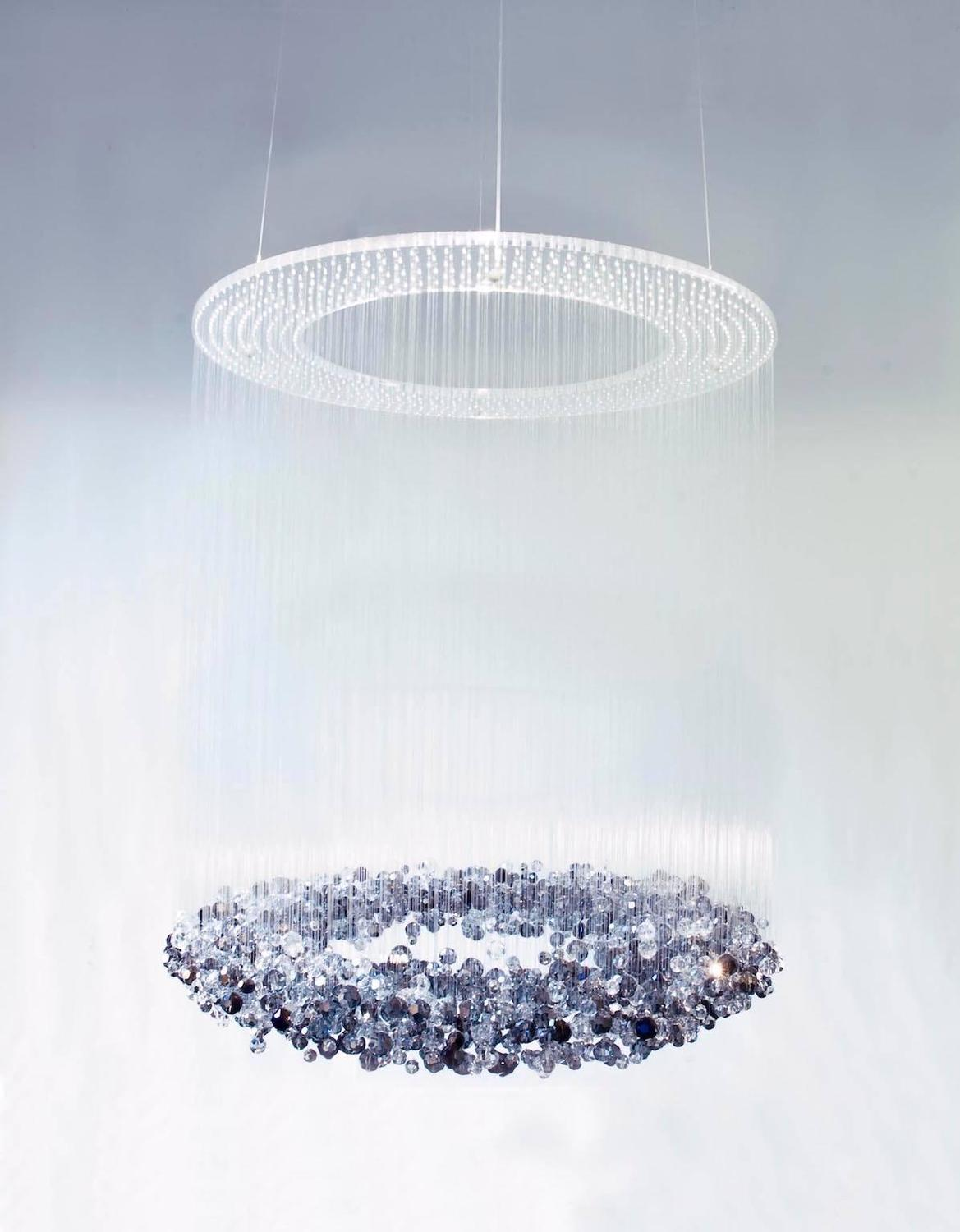 Blue crystals transparent midnight galaxy chandelier for sale at 1stdibs aloadofball Images