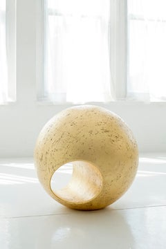 "24""R Sculptural Sphere in Gold Leaf by May Furniture"