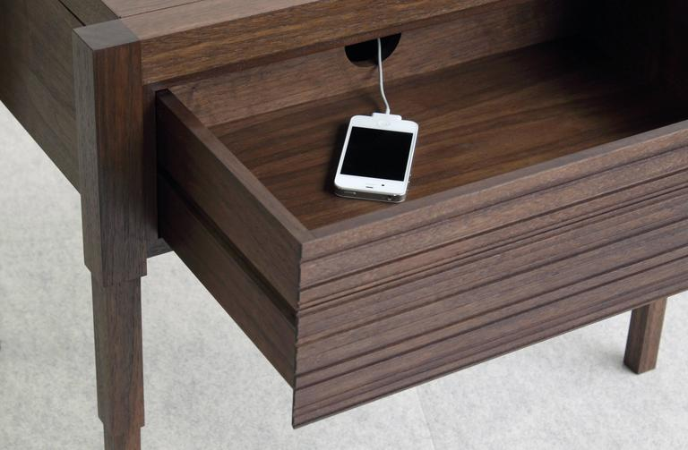 American Chicago Case Side Table in Walnut by May Furniture For Sale