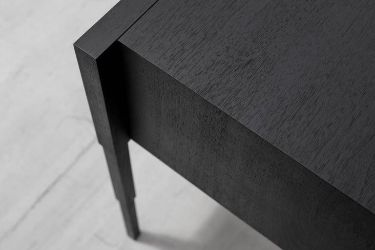 Modern Chicago Case Side Table in Blackened Walnut by May Furniture For Sale