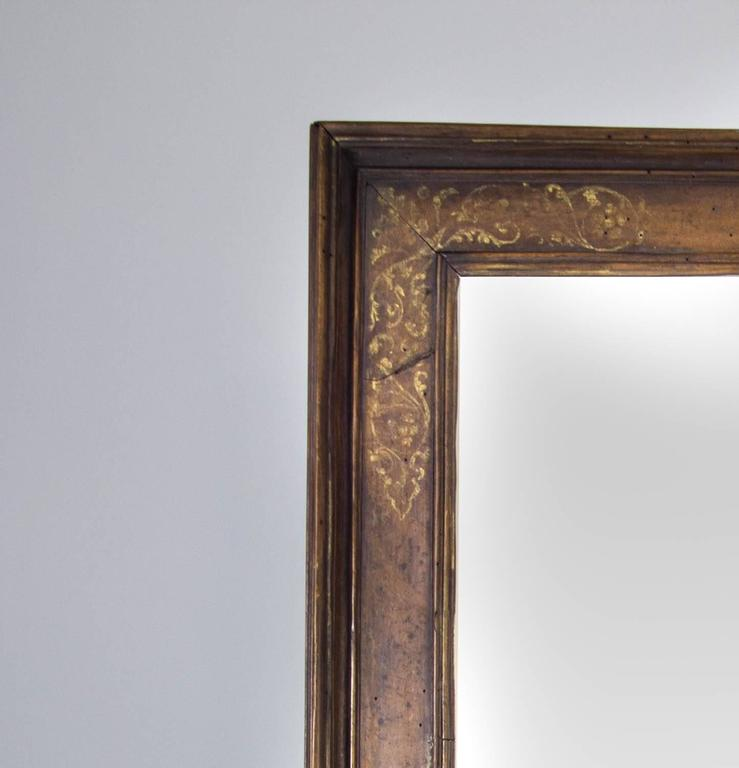 17th century italian mirror with gilded floral decoration for 17th century mirrors
