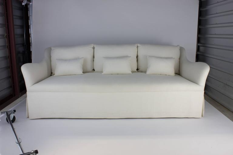 Custom fabricated sofa with six loose back cushions in for Cream sofas for sale