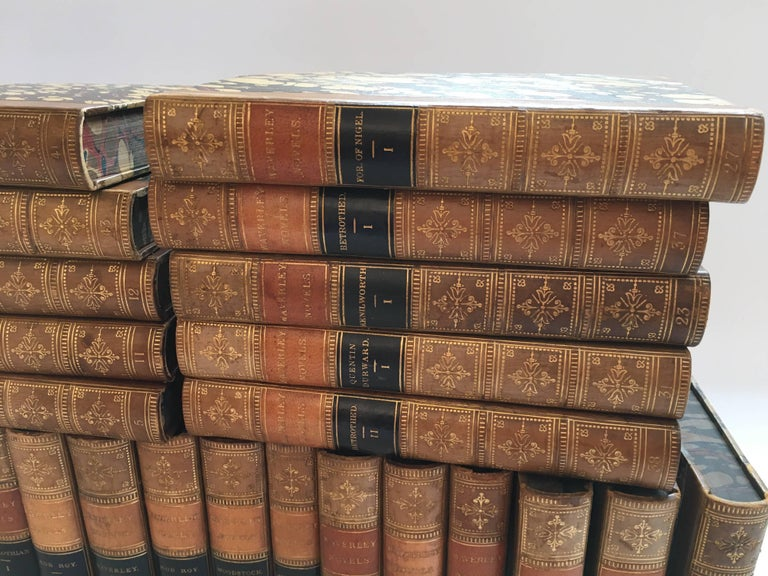 Waverley Novels in 50 Volumes by Sir Walter Scott, Boston, 1857 In Excellent Condition For Sale In Southampton, NY