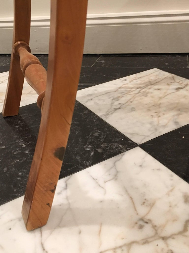 British Colonial Ceylonese Solid Satinwood And Ebony Caned