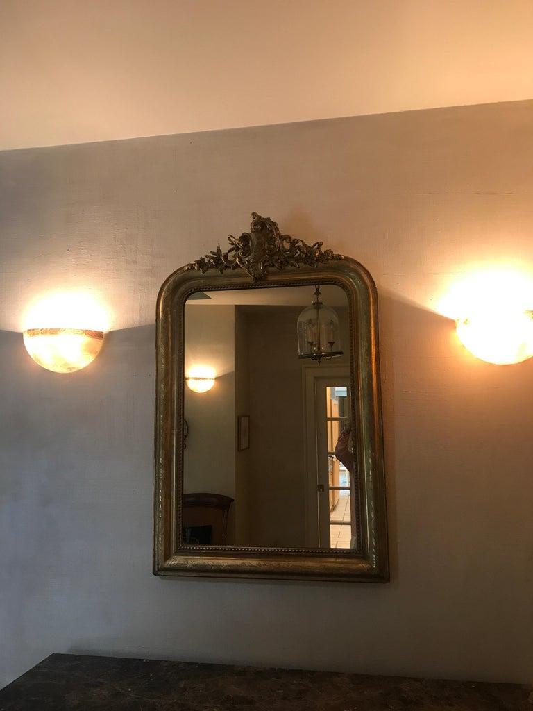 Regency 19th Century Gilt Louis Phillipe Mirror For Sale