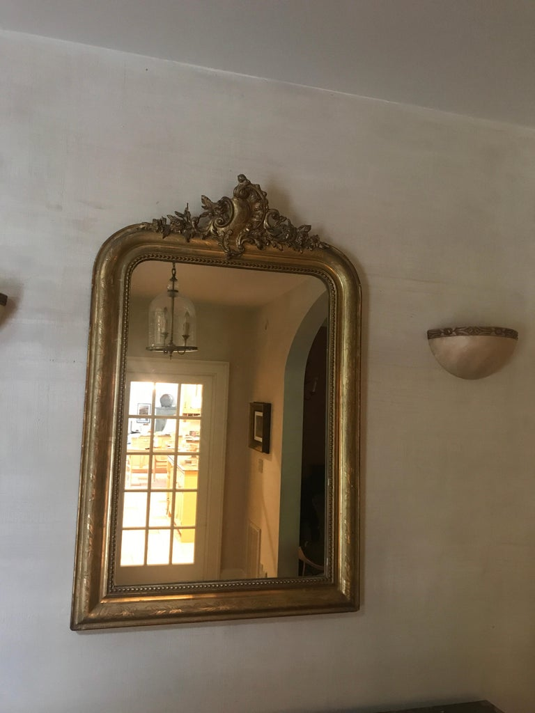 19th Century Gilt Louis Phillipe Mirror In Excellent Condition For Sale In Southampton, NY