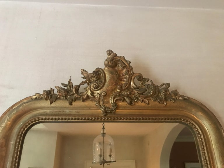European 19th Century Gilt Louis Phillipe Mirror For Sale