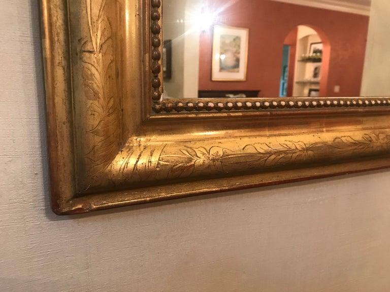 Giltwood 19th Century Gilt Louis Phillipe Mirror For Sale