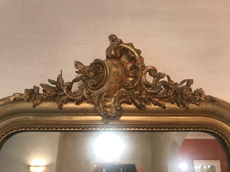 19th Century Gilt Louis Phillipe Mirror For Sale 1