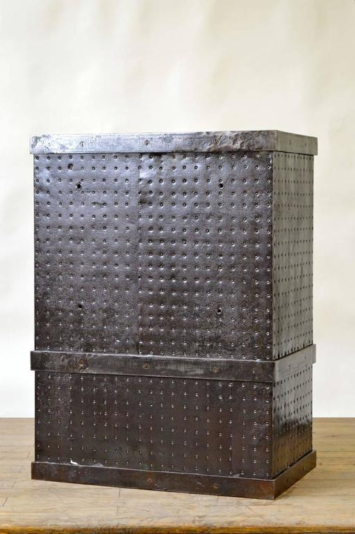 French industrial cast iron rivets safe circa at stdibs