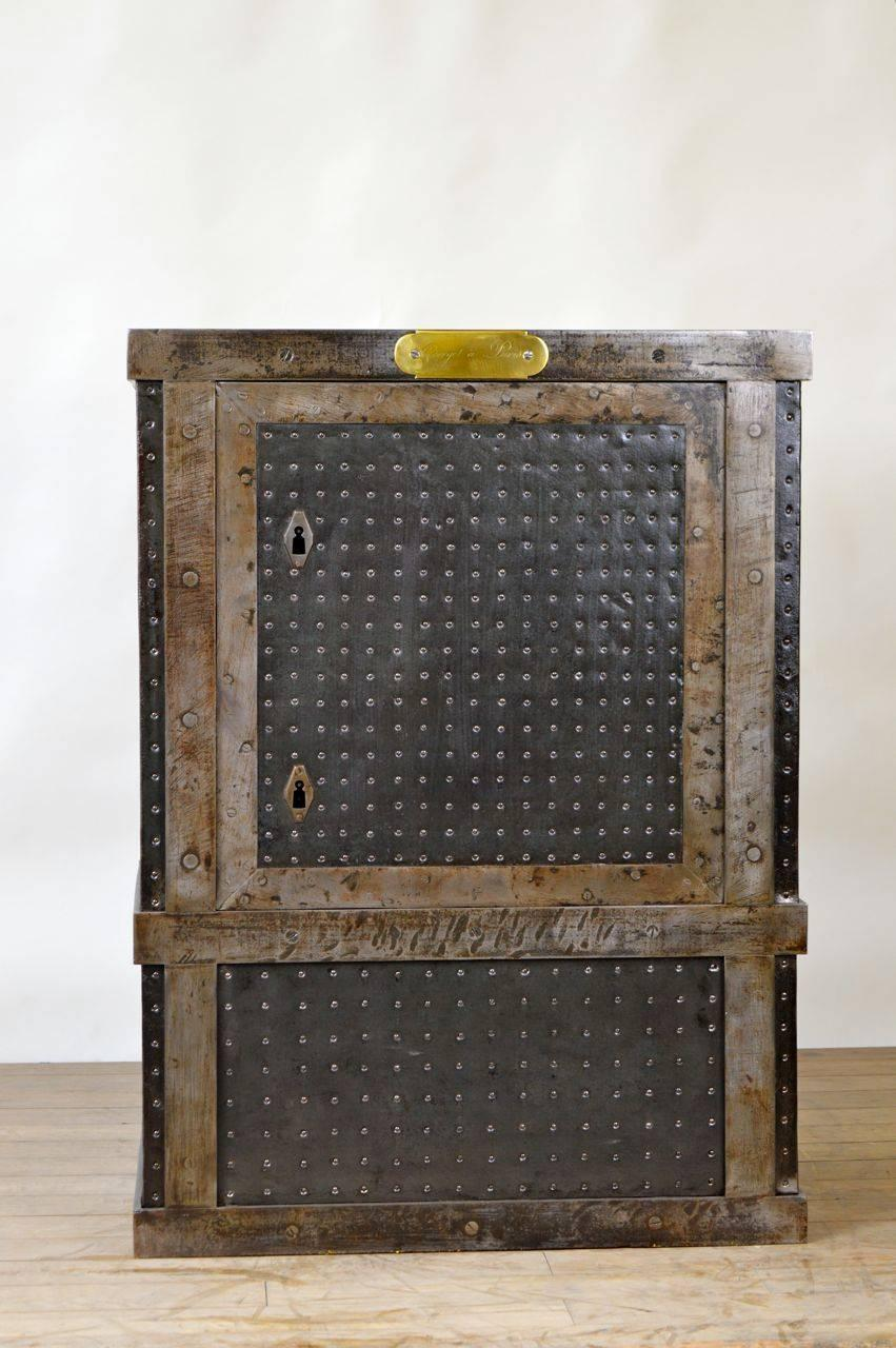 French industrial cast iron rivets safe circa for
