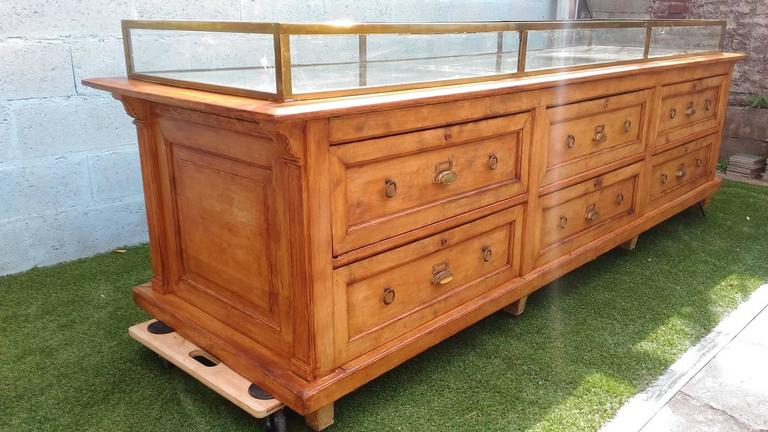 Wood buffet craft furniture for sale at 1stdibs for Crafting desks for sale
