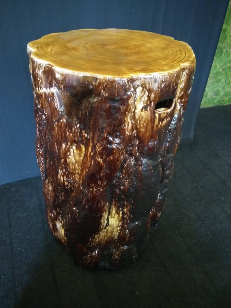 19th Century Majolica Stool by Gustavsberg Factory For Sale 3