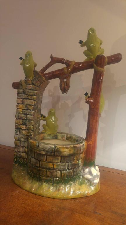 19th Century Jerome Massier French Majolica, Wells with Frogs For Sale 3