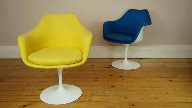 Mid Century Modern Vintage Tulip Chair Or Armchair By Eero Saarinen For  Knoll, Yellow