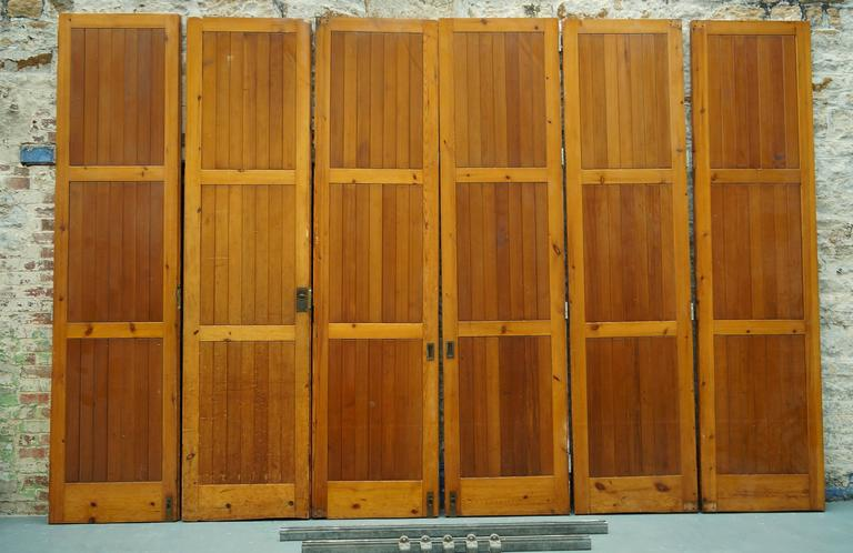 Mid-Century Modern Vintage Reclaimed / Salvage Oregon Pine Room Dividers /  Hinged Bi- - Vintage Reclaimed / Salvage Oregon Pine Room Dividers / Hinged Bi