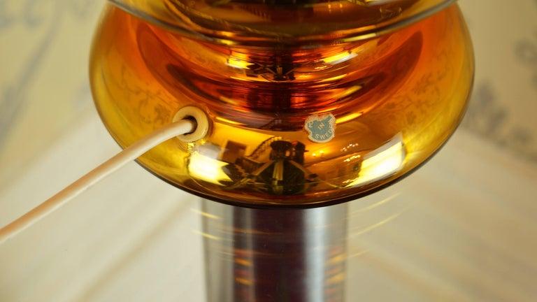 Johansfors Glasbruk Mercury Glass Gold Table Lamp, Vintage, Swedish, 1960s For Sale 5