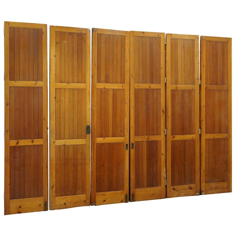 Vintage Reclaimed / Salvage Oregon Pine Room Dividers / Hinged Bi-Folding  Doors - Vintage Reclaimed / Salvage Oregon Pine Room Dividers / Hinged Bi