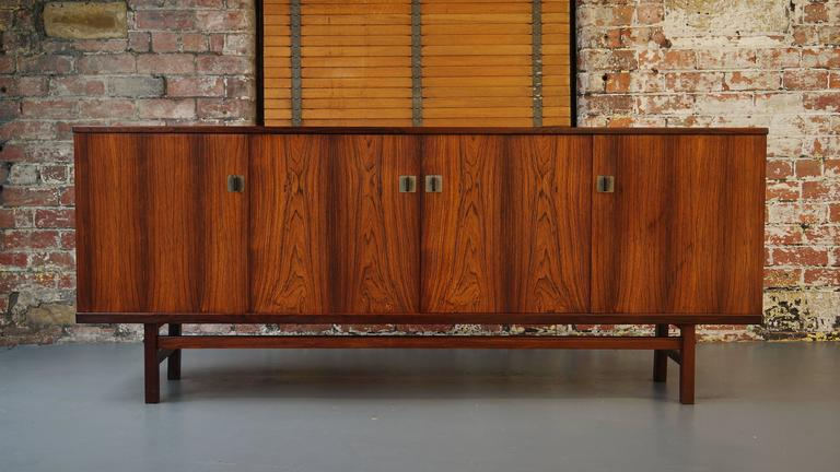 Danish Rosewood Credenza : Danish rosewood credenza or sideboard by nils jonsson at 1stdibs